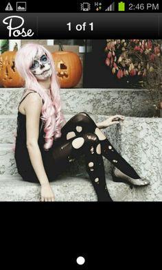 Halloween makeup.