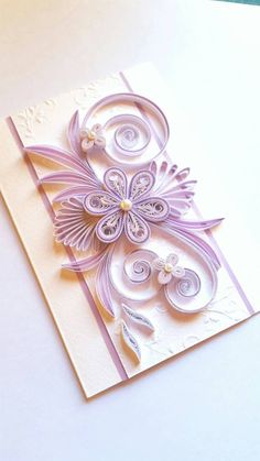Elegant Handmade Birthday Card Flowers Design by Gericards