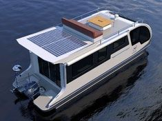 this houseboat doubles up as a caravan so you can holiday on both land and water Boat Building Plans, Boat Plans, Small Houseboats, Trailerable Houseboats, Houseboat Living, Build Your Own Boat, Water House, Floating House, Floating Boat