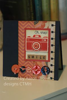 card by Aaron Brown using CTMH Claire paper
