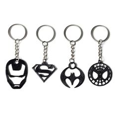 Download on https://cults3d.com #3Dprinting #Impression3D 3D Superhero Keychain Collection, FORMBYTE