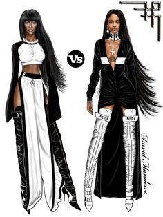Naomi Campbell and Rihanna for Fenty X Puma collection by Rihanna.