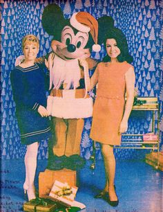Darlene Gillespie, Mickey Mouse and Annette Funicello
