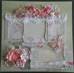 Image detail for -... Chic *Love* Scrapbook PreMade Page by Becky | Best Scrapbook Pages
