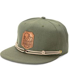 e26ce58c395 Findlay Crown Point Olive Snapback Hat