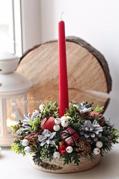 Одноклассники Handmade Christmas Decorations, New Years Decorations, Christmas Crafts, Table Decorations, Christmas 2019, Xmas, Pine Cone Crafts, Holiday Centerpieces, Nouvel An