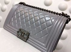 Chanel ticleer Boy pearl colored calfskin with hardware flap bag