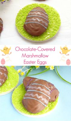 Chocolate-Covered Marshmallow Homemade Easter Eggs recipe - simple to make and so much cuter and cheaper than the store-bought ones! | www.pinkrecipebox.com