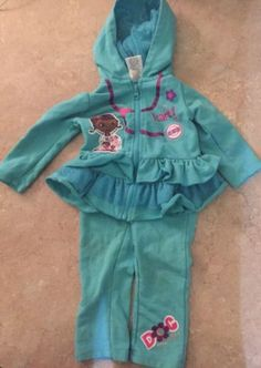 Disney Doc McStuffins 2 PC Sweat Suit Zip Up Jacket W/ Glitter Ruffle Tutu (18M) in Clothing, Shoes & Accessories,Baby & Toddler Clothing,Girls' Clothing (Newborn-5T) | eBay