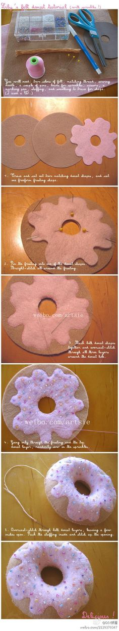 donut pillow...I want to make one!!!