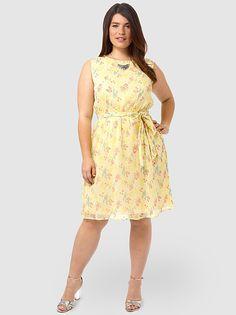 FLUTTER Mini Floral Fit & Flare Dress #plussize