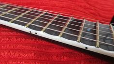 Partially-scalloped fretboard on an ESP Horizon FR 27 guitar. If you are gonna scallop a neck...PLEASE just do it after the 12th fret..