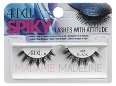 THIS IS VERY LIKE LILLY LASHES MIAMI KYLE JENNER ISWEARING IM LOOKING AT THEM NOW. I COLLECT INTERESTING LASHES, I DON;T THINK I WOULD WEAR THESE, BUT I THOUGHT THEY WEAR UNUSUAL, ARDELL 385 FOUND ON MADAMEMADELINE.COM AROUND 3.50 HAPPY BLACK LASHES FRIDAY !!!!! K. :)