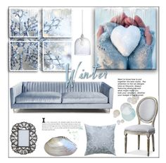 """Ice Blue Winter"" by pat912 ❤ liked on Polyvore featuring interior, interiors, interior design, home, home decor, interior decorating, A&B Home, Home and polyvoreeditorial"