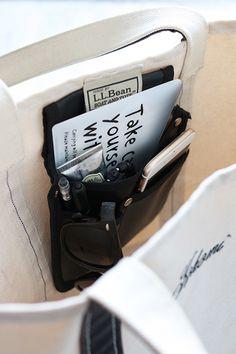★キャンドゥ100円!工具バッグをトートバッグのポケットに|インテリアと暮らしのヒント