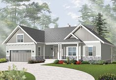 House Plan 76295 | Country Craftsman Vacation Plan with 3380 Sq. Ft., 5 Bedrooms, 4 Bathrooms, 2 Car Garage at family home plans