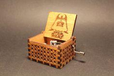 Engraved  wooden music box (Star Wars - Main Theme) on Etsy, $39.39 @Tiffany Davis