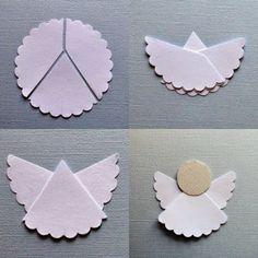 Hacer ángel de papel