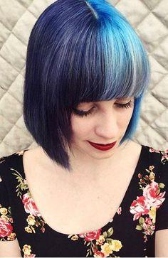 Split hair dye - the best looks from Instagram #hairtrend
