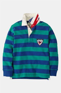 Mini Boden Rugby Shirt (Toddler) available at #Nordstrom