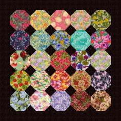 This block works as a good first quilt block.  It makes for a beautiful baby quilt in pastels with cream colored snowballs.