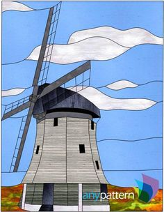 Windmill Stained Glass Pattern