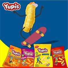 Disfruta la vida con tus #Yupis favoritos ¿Cual es tu preferido: el picante, el natural, el de queso o el de caramelo? #LaFormaDivertidaDeAlimentarte