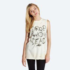 DFD Sleeveless T-shirt (Cream) - £30 WWW.DROPDEAD.CO