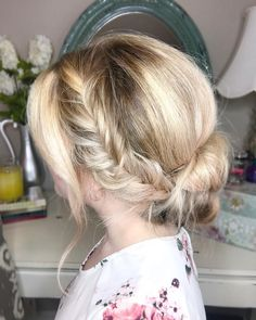 """2 Likes, 1 Comments - Emily Holland (@hairandmakeupbyemilyh) on Instagram: """"✨Sunday hair vibes✨ A wispy, loose, feminine and effortless updo for church today.…"""""""