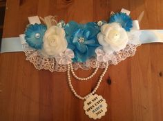 Maternity sash for boy Another one I did myself