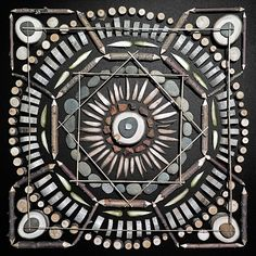 Found Object Mosaic Mandalas