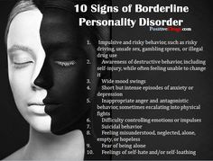You WANT TO UNDERSTAND ME BETTER: HERE ARE SOMETHINGS TO READ : 10 Signs of Borderline Personality Disorder