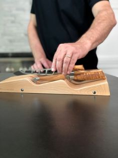 Ditch your knife block and store your blades in a in-drawer knife holder. Our in-drawer knife holder has slots that can fit a range of knife sizes. Click the link for more product information. Slot, Magnetic Knife Blocks, Knife Storage, Knife Holder, Kitchen Drawers, Acacia, Range, Contemporary, Collection