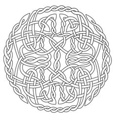 Mandala Art Free Coloring Pages | Celtic Circle X (coloring) by Artistfire on deviantART