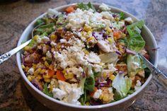 Bob Evans Copycat Recipes: Chicken Cranberry Pecan Salad This is so good. Cranberry Spinach Salad, Cranberry Chicken, Pecan Recipes, Copycat Recipes, Cooking Recipes, Diabetic Recipes, Cooking Ideas, Yummy Recipes, Pecan Chicken Salads