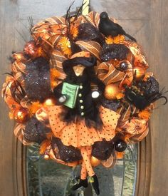 Charlottes Web Halloween Wreath.
