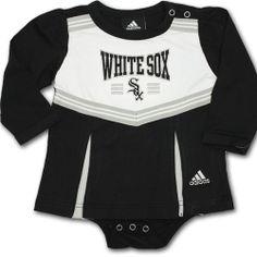 White Sox Onesie Dress  #whitesox #Chicago #baby #infant #dress #babyfans