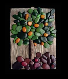 Pebble Art in art with Recycled Art Paint Frame Pebble Painting, Pebble Art, Stone Painting, Rock Painting, Stone Crafts, Rock Crafts, Arts And Crafts, Art Crafts, Art Rupestre