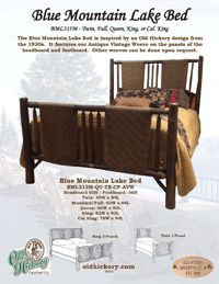 Rustic Furniture, Hickory Furniture, Log Cabin furnishings, Handcrafted log furniture, Made in the USA Old Hickory Furniture, Log Furniture, Guest Cabin, Blue Bedding, Headboard And Footboard, Blue Mountain, Furniture Companies, Rustic Style, Mirrors