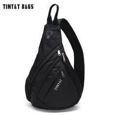 TINYAT Men Functional multilayer Bag Cool Casual Chest Bag Pack Morden Outside Large Capacity Messenger bag Pack T509 Black * Read more  at the image link.