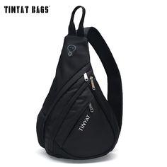 TINYAT Men Functional multilayer Bag Cool Casual Chest Bag Pack Morden Outside Large Capacity Messenger bag Pack T509 Black * Read more  at the image link.