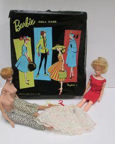 Vintage 1960s Barbie Pony Tail Black Case Blonde by retrogal415...$40