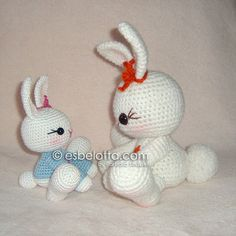 Snow Bunny  Amigurumi crochet pattern by esbelotta on Etsy,
