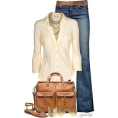 Nice way to dress up the jeans:) Classy look.