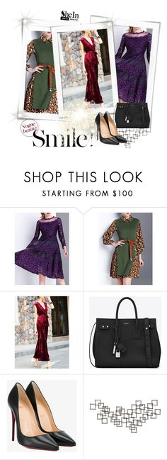 """Bez naslova #110"" by ajisa-ikanovic ❤ liked on Polyvore featuring Yves Saint Laurent, Christian Louboutin and Crate and Barrel"