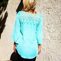 XSiV Love's Perfect Mint Blouse with Lace Detail on the Back For Inquiries please contact xsivlove@gmail.com