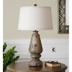 Uttermost Doria Aged Wood Table Lamp 27743