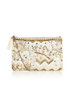☆ White Zip Top Clutch Bag - Accessorize