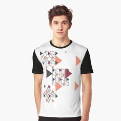 'exclusive by design' Graphic T-Shirt by Female Models, Vivid Colors, How To Make, How To Wear, Graphic Design, Printed, Awesome, People, Sleeves