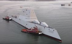 Video from Maine Imaging Photography showing the U.S. Navy's Zumwalt (DDG-1000) entering Portland Harbor following sea trials in December. The Zumwalt is the first of three planned Zumwalt-class stealth destroyers being built for the Navy by General Dynamics Bath Iron Works in Maine. Maine Imaging notes that it obtained permission to fly in such close …